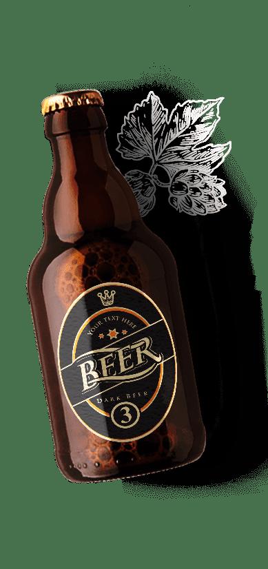 beer bottle transparent