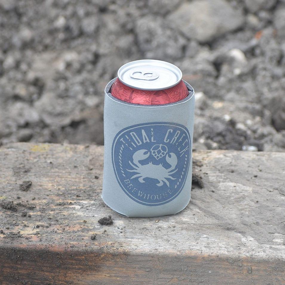 Grey Tidal Creek Brewery Can Koozie