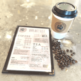 coffee and breakfast at Tidal Creek Brewhouse