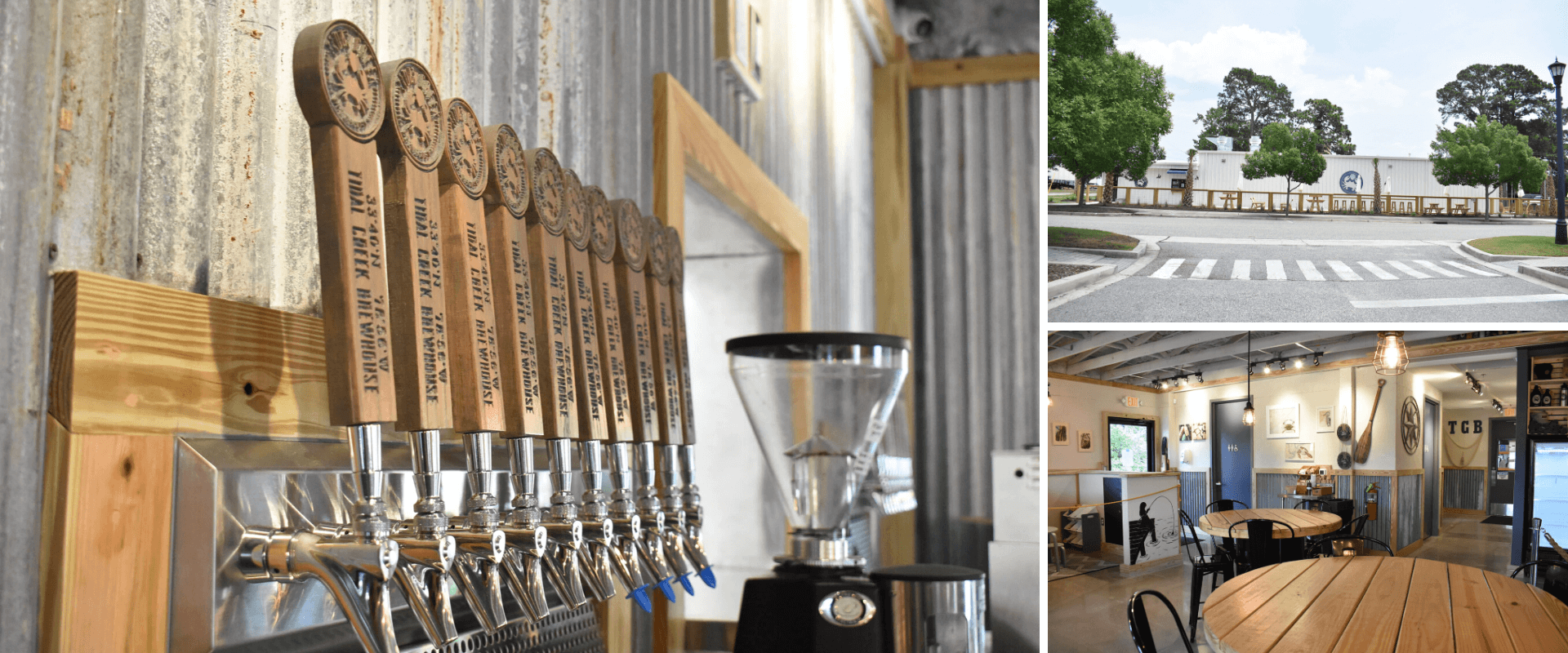 Tidal Creek Brewhouse inside and outside dining