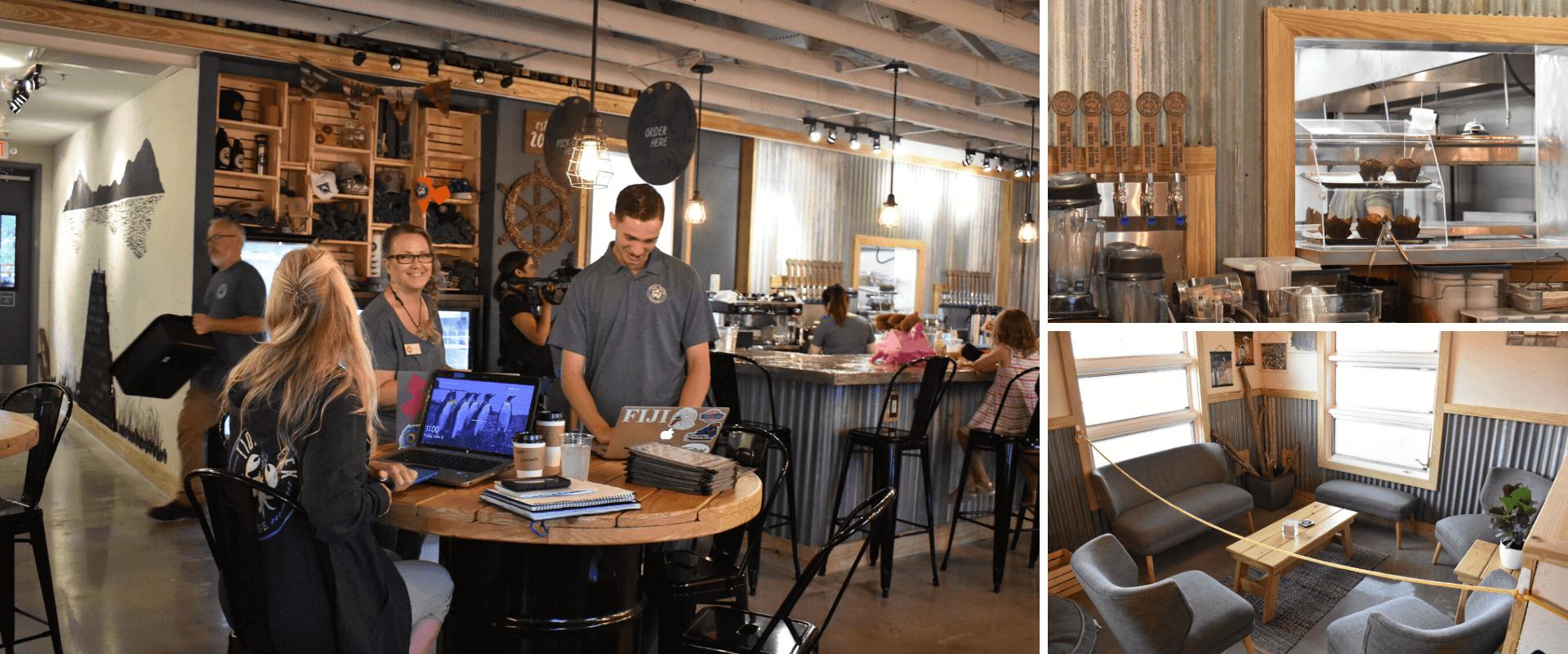 Tidal Creek Brewhouse indoor dining