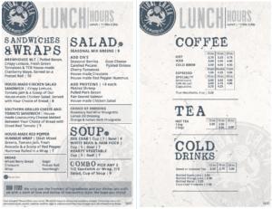 Tidal creek brewhouse lunch menu
