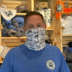 grey multi-use Tidal Creek Brewhouse neck gaiter