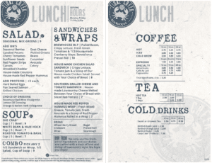 tidal creek brewhouse lunch menu