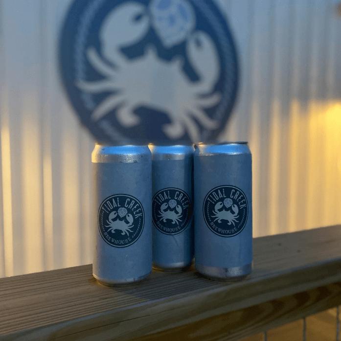 tidal creek brewing beer cans