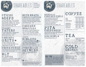 Tidal creek brewhouse shareable menu
