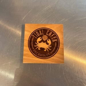 wooden tidal creek brewhouse coaster