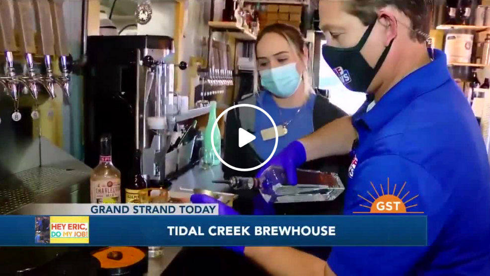 screenshot of video from Hey Eric, Do my Job - Cocktails at Tidal Creek Brewhouse