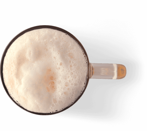 beer froth transparent